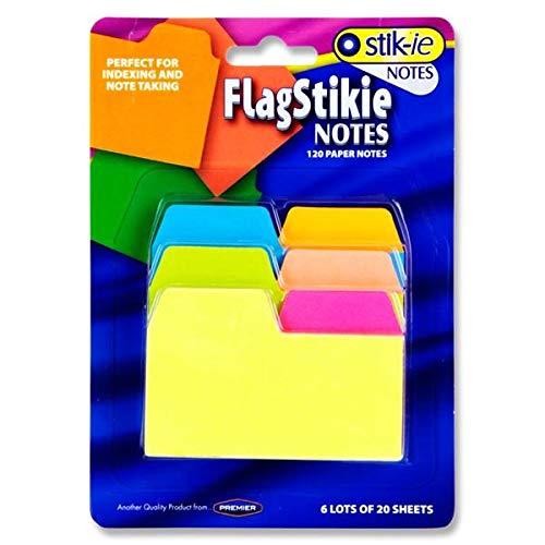 Premier Stationery W2117482 Stik-ie Notes Index und Notizstift, Neonfarben
