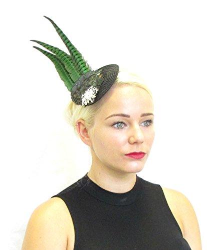 Vert Noir Longue plumes de faisan Bibi Serre-tête Vintage Burlesque Z27 * * * * * * * * exclusivement vendu par – Beauté * * * * * * * *
