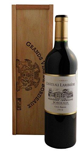 Bordeaux Château Rotwein mit Goldmedaille in Holzkiste (1 x 0.75 l)