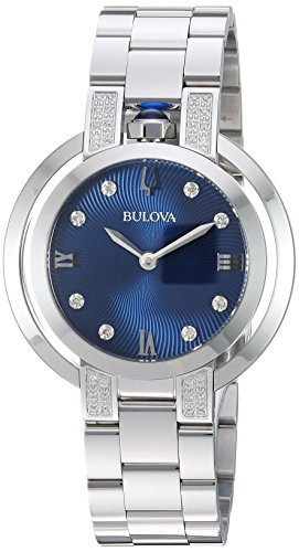 Bulova Women's 'RUBAIYAT' Quartz Stainless Steel Casual Watch, Color Silver-Toned (Model: 96R225)