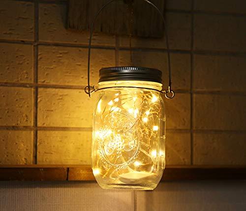 Aons Solar-Laterne Wasserdichte, 20 LEDs leuchtet Perlen Glas Hängeleuchte Outdoor String Laterne Dekoration für Zuhause Party Garten Hochzeit