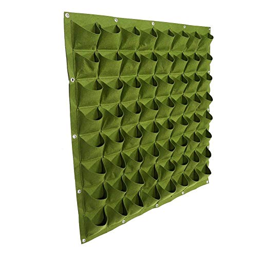 64 tasche di impianto alla parete sospensorio giardinaggio planter all'aperto coperta verticale greening grow borse ( colore : verde )