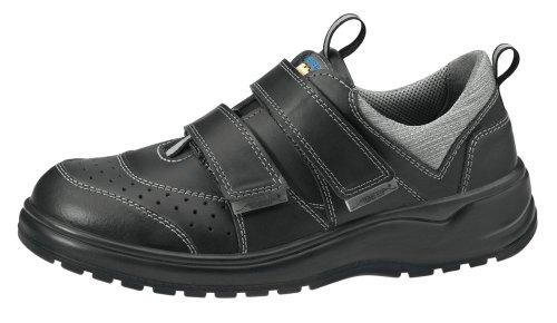 ABEBA chaussure à usage professionnel arbeitschuh 1121 cuir noir bakterienhemmend respirant antistatique cE eN iSO 203 47:20 12 o1 fO sRA Noir
