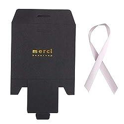 """Papiertüte Geschenkboxen, 20 Stück Kraftpapiertüte Bronzing Französisch""""Merci"""" Danke Geschenkbox Paket Hochzeitsfestbevorzugung Süßigkeitstüten mit Band (S,schwarz)"""