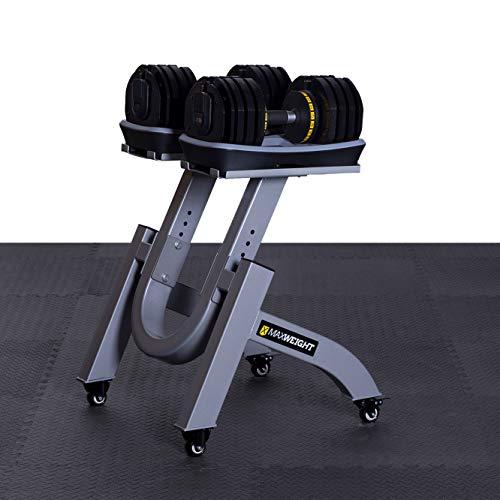 Maxweight Fitness X36 Hantelsystem   2 bis 36 kg   Einstellbare Hantel   2 Hanteln mit Ablageschale   Innovativ & platzsparend   18 in 1   Hochbelastbarer Korpus