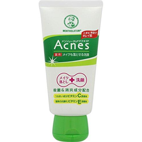 Rohto Acnes Facial Washing Foam 130g (japan import)