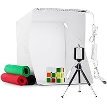 Photo Studio Tent, Mini Studio fotograficoItems 9,5 pollici dimmerabile pieghevole Photo Studio fotografico Studio portatile Kit Light Box con luce a LED