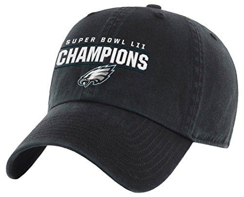 OTS NFL Philadelphia Eagles Super Bowl SB52 Champions Challenger Verstellbarer Hut, Schwarz, One Size