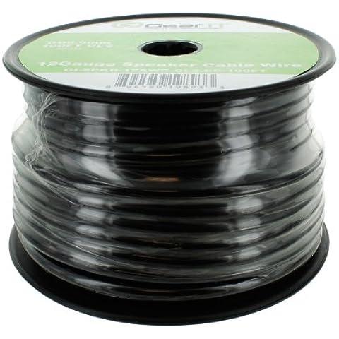 GearIt 12-gauge cavo per altoparlanti–Garanzia a Vita nero 100ft CL2