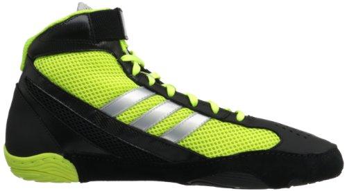 Adidas Wrestling Response 3.1 Wrestling chaussures, noir / argent métallisé / noir, 5 M Us Black/Electricity/Metallic Silver