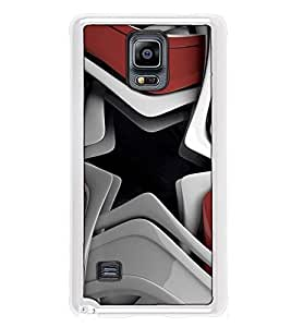 Fuson Designer Back Case Cover for Samsung Galaxy Note 4 :: Samsung Galaxy Note 4 N910G :: Samsung Galaxy Note 4 N910F N910K/N910L/N910S N910C N910Fd N910Fq N910H N910G N910U N910W8 (designer wall paper frame photo curtains star)