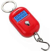25kg x 5g Digital Escala colgante Mini electrónico del equipaje LCD escala del gancho de luz