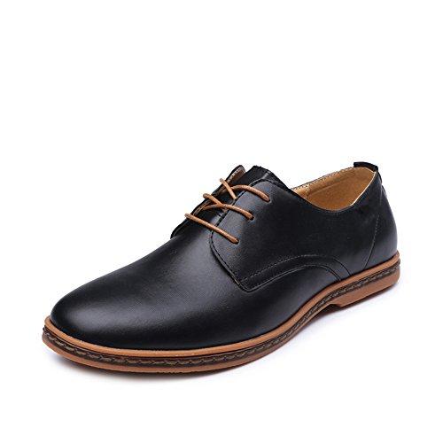 CUSTOME Homme Chaussures en Cuir Appartement Doux Mode Loisir Oxfords Poids Léger Lacer Confort Chaussures Formelles