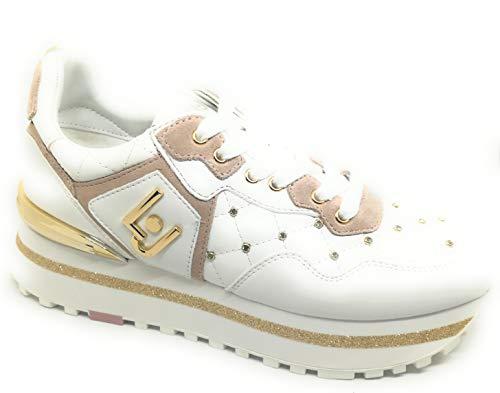 Liu jo shoes maxi alexa-running, scarpe da ginnastica basse donna, bianco (white 01111), 37 eu