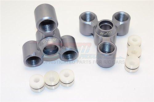 Arrma Nero 6S BLX (AR106009, AR106011) & Fazon 6S BLX (AR106020) Upgrade Pièces Aluminium Rear Knuckle Arms - 1Pr Set Grey Silver | Jolie Et Colorée