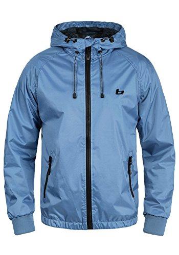 Blend Pats Herren Windbreaker Regenjacke Übergangsjacke Mit Kapuze, Größe:M, Farbe:Marine Blue (74635) - Gerippt Wolle Blend