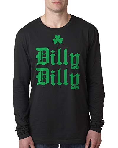 Retta Herren Langarmshirt Dilly St. Patrick's Day - Schwarz - 3X-Groß