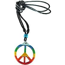 Pendentif Collier Rasta Jamaique jamaica peace love paix
