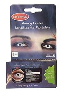 Goodmark 02005491 WhiteManson - Lentillas de contacto, color blanco