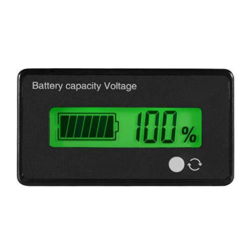 Digital LCD Batterie Kapazität Tester Monitor Lithium Batterie Spannung Meter LCD Blei Säure Batterie Kapazität Meter Voltmeter DC 8-65 V Wasserdichte 12 V / 24 V / 36 V / 48 V für Fahrzeugbatterie -