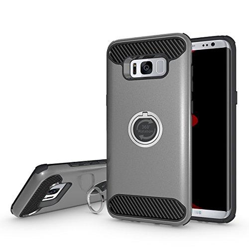 Galaxy S7 Edge Coque,EVERGREENBUYING Ultra Slim léger 2 en 1 SM-G9350 Cases Housse Etui avec fente pour carte porte-monnaie Case Pour Samsung GALAXY S7 Edge Noir Gris