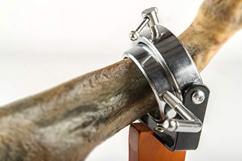 Fackelmann 02123 Soporte Jamonero Giratorio, Madera Natural e INOX, 36,5x16,5x37,5cm.