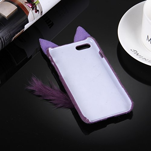 Hülle für iPhone 7 plus , Schutzhülle Für iPhone 7 Plus Fox Plüsch Tuch Abdeckung PC Schutzhülle ,hülle für iPhone 7 plus , case for iphone 7 plus ( Color : Purple ) Purple