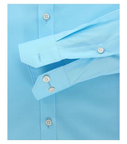 Venti - Body Fit/Super Slim Fit - Herren Hemd mit extra langem Arm(72 cm), Bügelfrei (001472) Türkis (162)