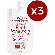 Osius Beef Bone Broth with Seaweed | Full of Organic Goodness | Made with 100% Grass Fed Beef Bones | New Easy to Use Pouches | Delivered Frozen for Freshness | Multipack on 200ml and 500ml Pouches Saving 5%! | One Off Delivery Charge (Beef 200ml, 3 x Pouches)
