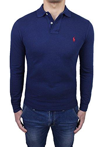 Ralph Lauren Herren Poloshirt blau blau Small (Jeans Ralph Vintage Lauren)