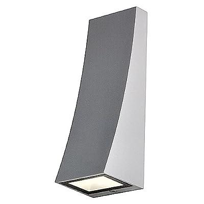 Wandleuchte Delwasilbergrau, LED warmweiß von SLV auf Lampenhans.de