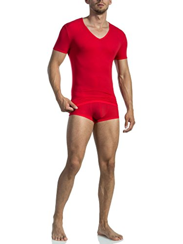 Olaf Benz Herren Unterhemd RED0965 V-Neck low Rot