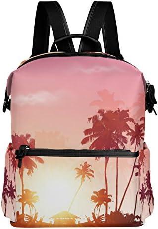 Palms silhouettes silhouettes silhouettes à Rose Coucher de soleil Ciel léger Polyester imperméable Grande contenance Sac à dos Campus Sac à dos de voyage Sac à dos | Durable  b20f7d