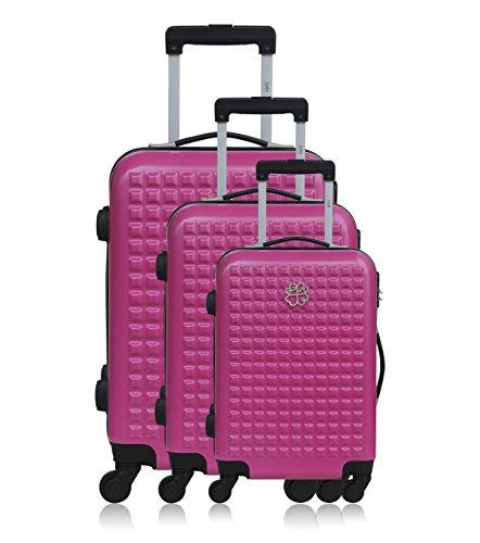 Les P'tites Bombes Set di valigie, Rose (rosa) - BD-12225