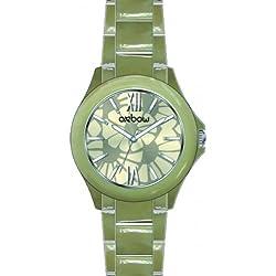 Oxbow 4544001-Ladies Watch-Analogue Quartz-Beige Dial Beige Plastic Strap