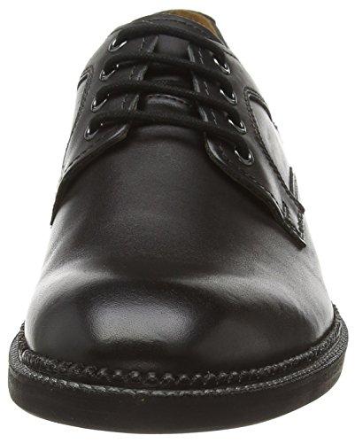 Clarks Bushwick Dale, Derbies à lacets homme Noir (Black Leather)