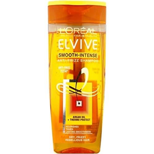 6er Pack - L'Oréal Elvive Anti Frizz Shampoo - Smooth Intense - für trockenes, krauses Haar - 250 ml -