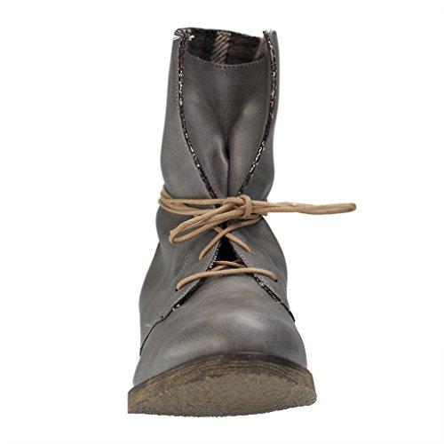 ALESSANDRO MILANO - 104-2 Carolina - Damen Halbschaft Stiefel - Grau XXL Schuhe in Übergrößen Grau