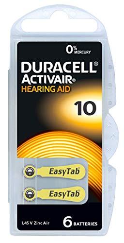 Duracell Easytab/Activair Typ 10 Hörgerätebatterie Zinc Air P10 PR70 ZL4, 60 Stück