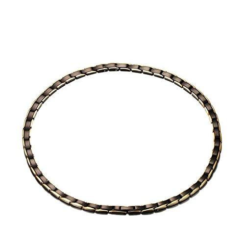 SonMo 925 Sterling Silber Halskette Herren Personalisierte Silber Kette Rose Kreis Erliebte Paar Schmuck für Sie Und Ihn Braun Geburtstag Geschenk