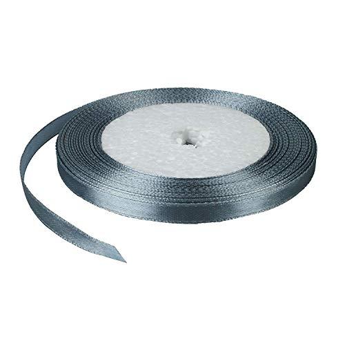 O_listing Band Rolle Stoff Party Home Hochzeit Dekoration Geschenk Verpackung DIY Material (25 m), Dark Silver -