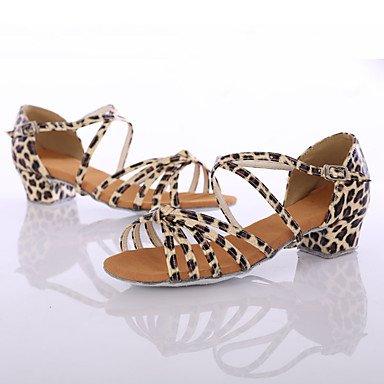 Ruhe @ Damen Dance Schuhe Kunstleder Kunstleder Latin/DANCE Sneakers Heels Chunky Ferse Innen/Performance leopard