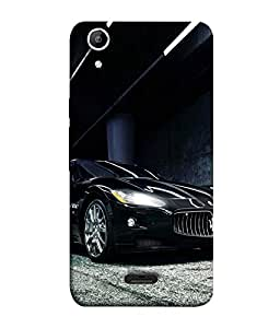 FUSON Designer Back Case Cover for Micromax Canvas Selfie 2 Q340 (Sports Car Racing Car Black luxury Car)