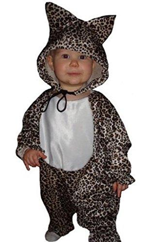 Leoparden-Kostüm, TO11/00 Gr. 80-86, für Klein-Kinder, Baby Babies, Leoparden-Kostüme Leopard Kinder-Kostüme,  Fasching Karneval, Karnevalskostüme, Faschingskostüme, Geburtstags-Geschenk Kind