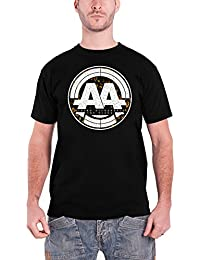 Asking Alexandria Mens T Shirt Black Stamp Band Logo Official