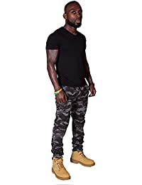 Pantalons pour hommes skinny - Camouflage Gris Pantalon Cargo Pantalon Homme pan SKINNYCAMOURBAN