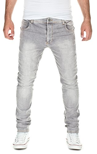 Yazubi Herren Sweat Jeans Slim Fit, light grey (10063), W34/L34