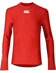 Canterbury Thermoreg - Camiseta térmica de manga larga para niño, Infantil, Thermoreg Long Sleeve, Flag Red, mediano