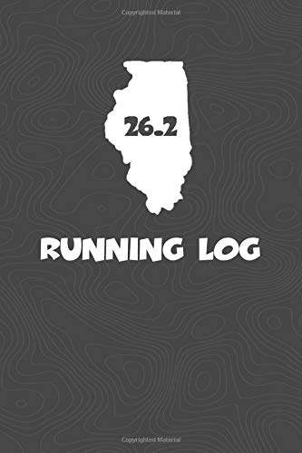 Running Log: Blank Lined Journal for anyone that loves Illinois, running, marathons! por KwG Creates