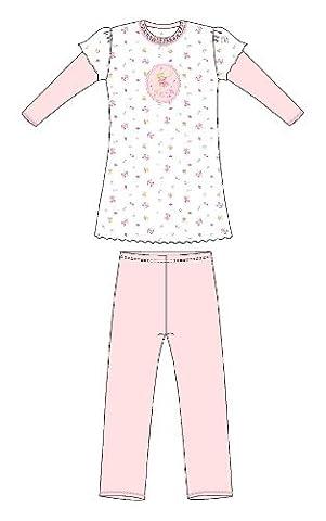 Schiesser Mädchen Schlafanzug Lillifee kurz - Weiss: Größe: 104